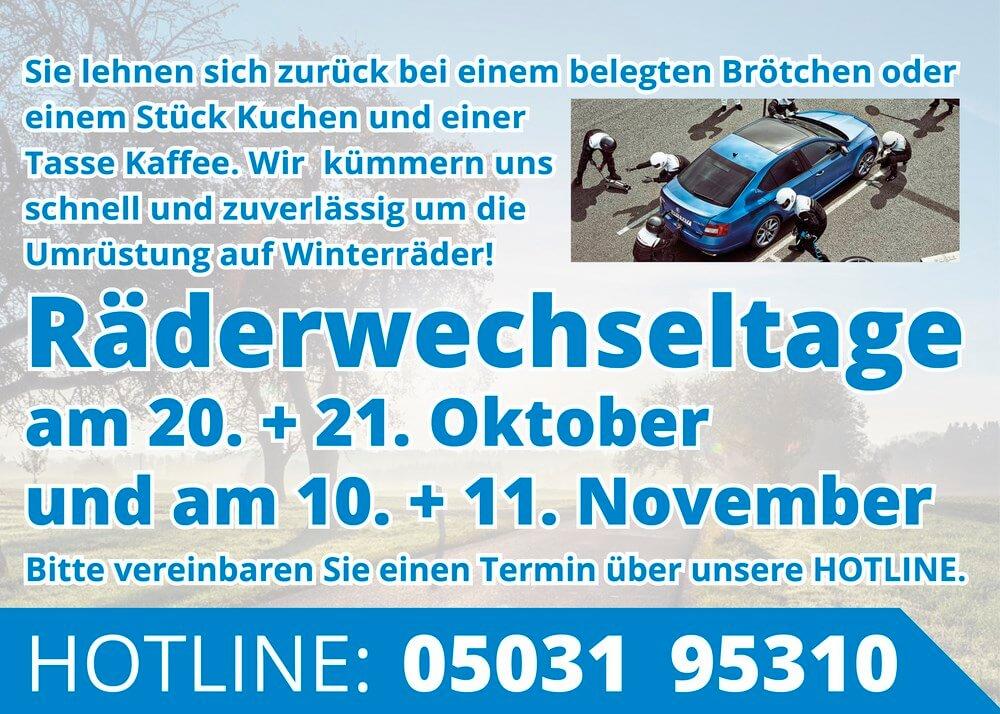 Räderwechseltage Autohaus Schulze Wunstorf